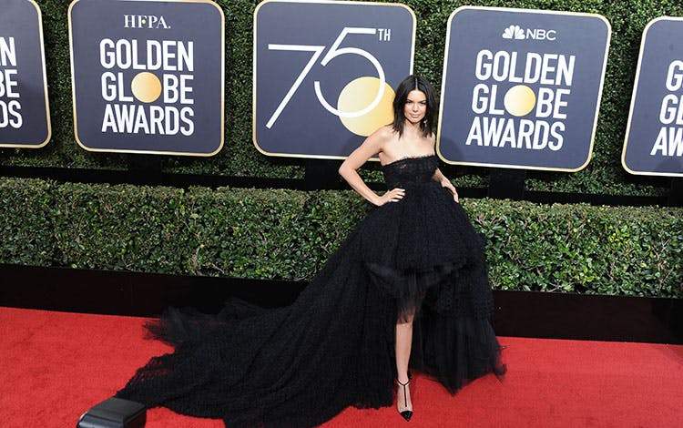 5a507464dcec Kendall Jenner på den røde løber til Golden Globe Awards 2018. Foto  All  Over Press